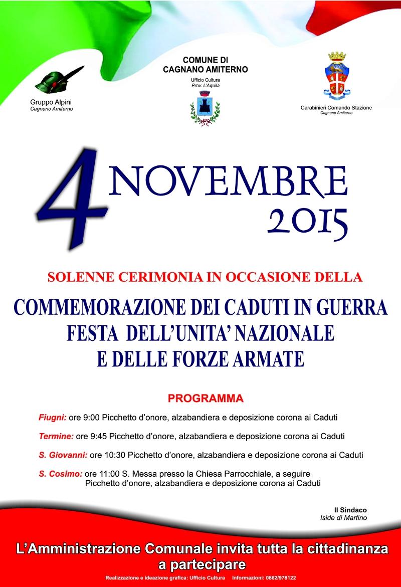 La commemorazione del 4 Novembre